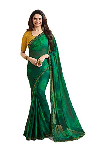Da Facioun Indian Sarees for Women Wedding Designer Party Wear Traditional Green Sari.