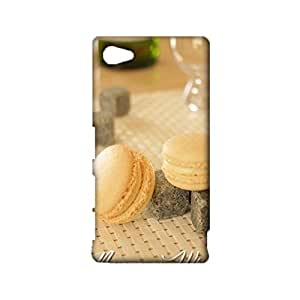 Durable 3D Hard Plastic Cover fit Sony Xperia Z5 Compact,Visual Cute French Dessert Printed Phone Case Snap on Sony Xperia Z5 Compact
