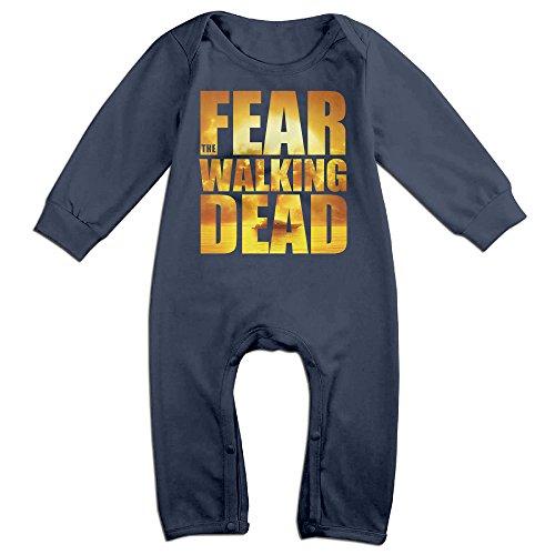 [KIDDOS Baby Infant Romper American Horror Drama TV Series Long Sleeve Jumpsuit Costume,Navy 18] (Daryl Dixon Costumes)