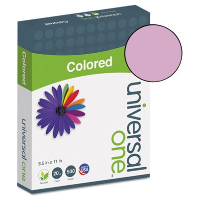 Universal - Colored Paper, 20lb, 8-1/2 x 11, Orchid, 500 Sheets/Ream - Sold As 1 Ream - All printers, all copiers. by Universal