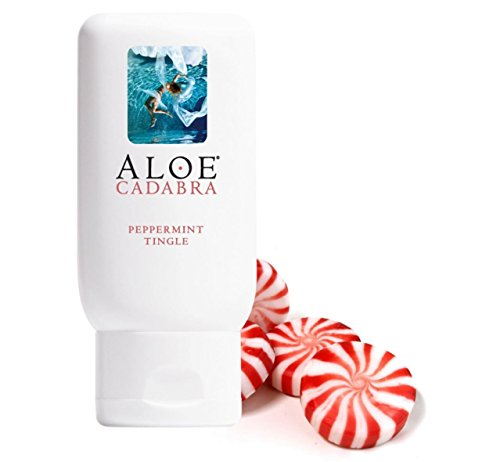 Aloe Cadabra Natural Organic Personal Lubricant, Flavored Peppermint Lube, 2.5 Ounce