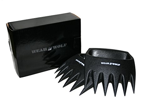 Wear Wolf Claws SOLID PLASTIC meat shredders - HYGIENIC with NO - Kit Claw Bear