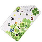Kids Bathtub mat Non Slip Bathroom Mat with Super Soft Surface Sturdy Suction Cup Construction Anti-Bacterial Bathtub Mat Bathroom Accessories Size:39 x 71cm No.Two Butterfly