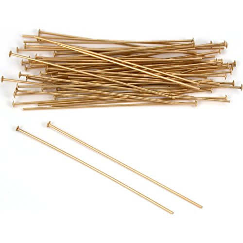 50 14K Gold Filled Headpins Head Pins 24 ga. 1.5 in.