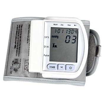 Pixnor pantalla LCD Digital portátil tensiómetro de muñeca medidor de corazón Beat: Amazon.es: Electrónica
