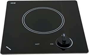 Kenyon B41605 6-1/2-Inch Caribbean Single Burner Cooktop with Analog Control UL, 120-volt, Black