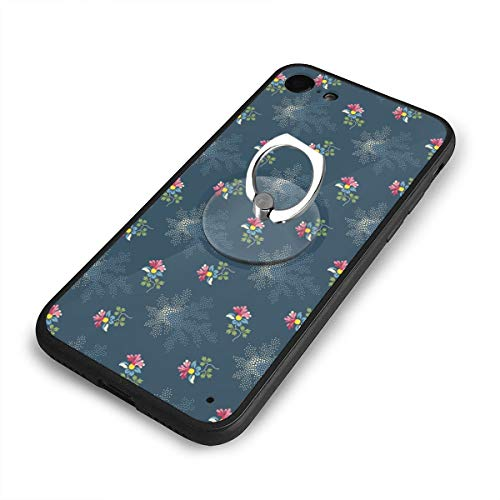 iPhone 6 Plus Case and Phone Holder Small Flower Protective Case Scratch-Resistant Cover Skin Cover ()
