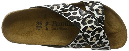 Papillio Daytona Birko-Flor Plateau, Women's Mules Multicolored (Leo White Platform)