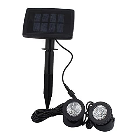 ... de proyección de luz w 2 lámparas sumergibles para jardín piscina estanque de decoración de iluminación al aire libre ligero subacuático - - Amazon.com