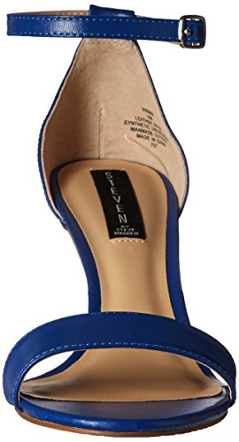 Steve Madden Steven by Women's Viienna Dress Sandal, Blue, US Blue Leather
