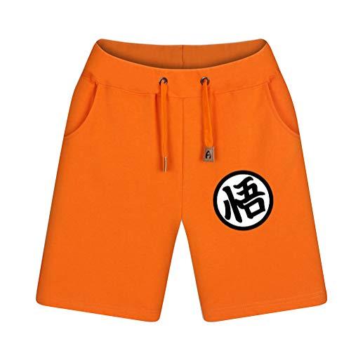 NSOKing Mens Anime Dragon Ball Z Son Goku Costume Shorts Summer Pants (XX-Large, Color01)