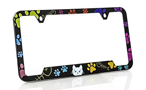 Purrrfect Cat (Baron-Jewelry Adorable Purrr-FECT 'cat Lover' Colorful Plastic License Frame Unique Design. Standard US & Canada Size.)