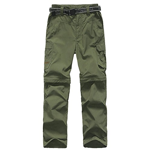 - Kids Monolayer Can be Split Super Stretch Quick Drying Outdoor Pants 3301 Army Green X-Large