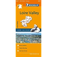 Loire valley Region MH517 1:200,000 Michelin