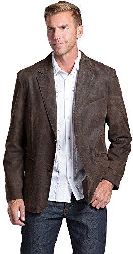 Distressed Italian Leather Jacket - 6