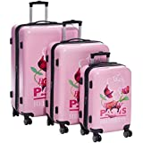 Hello Kitty Luggage Trolley Bags Set 3 Pieces 54-10851 - Multi Color