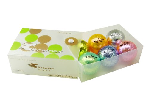 Chromax M1 Metallic Golf Balls-Six Pack, Outdoor Stuffs