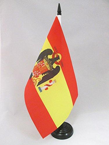 AZ FLAG Drapeau DE Table Espagne FRANQUISTE 1945-1977 21x14cm - Petit Drapeaux DE Bureau Espagnol DE Franco 14 x 21 cm