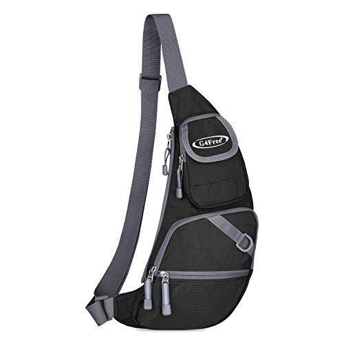 Sling Bag Chest Crossbody Bag Sling Backpack One Strap Shoulder Backpacks(Black)