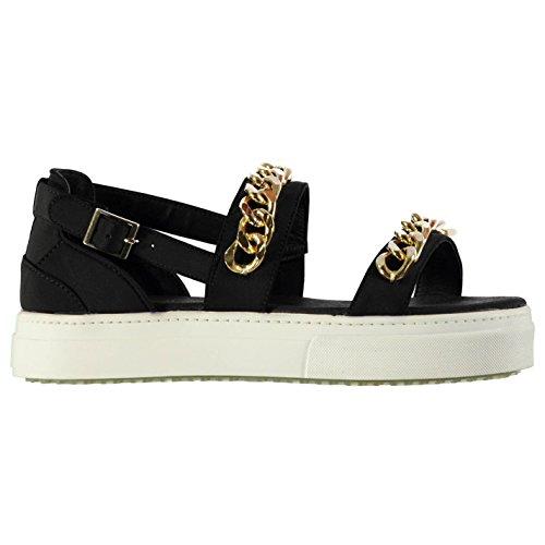 Jeffrey Campbell Strauss Sandalen Damen Schwarz/Gold Fashion Schuhe Schuhe