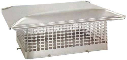 The Forever Cap CCSS1017 10 x 17-Inch Stainless Steel 5/8-Inch Spark Arrestor Mesh Chimney Cap