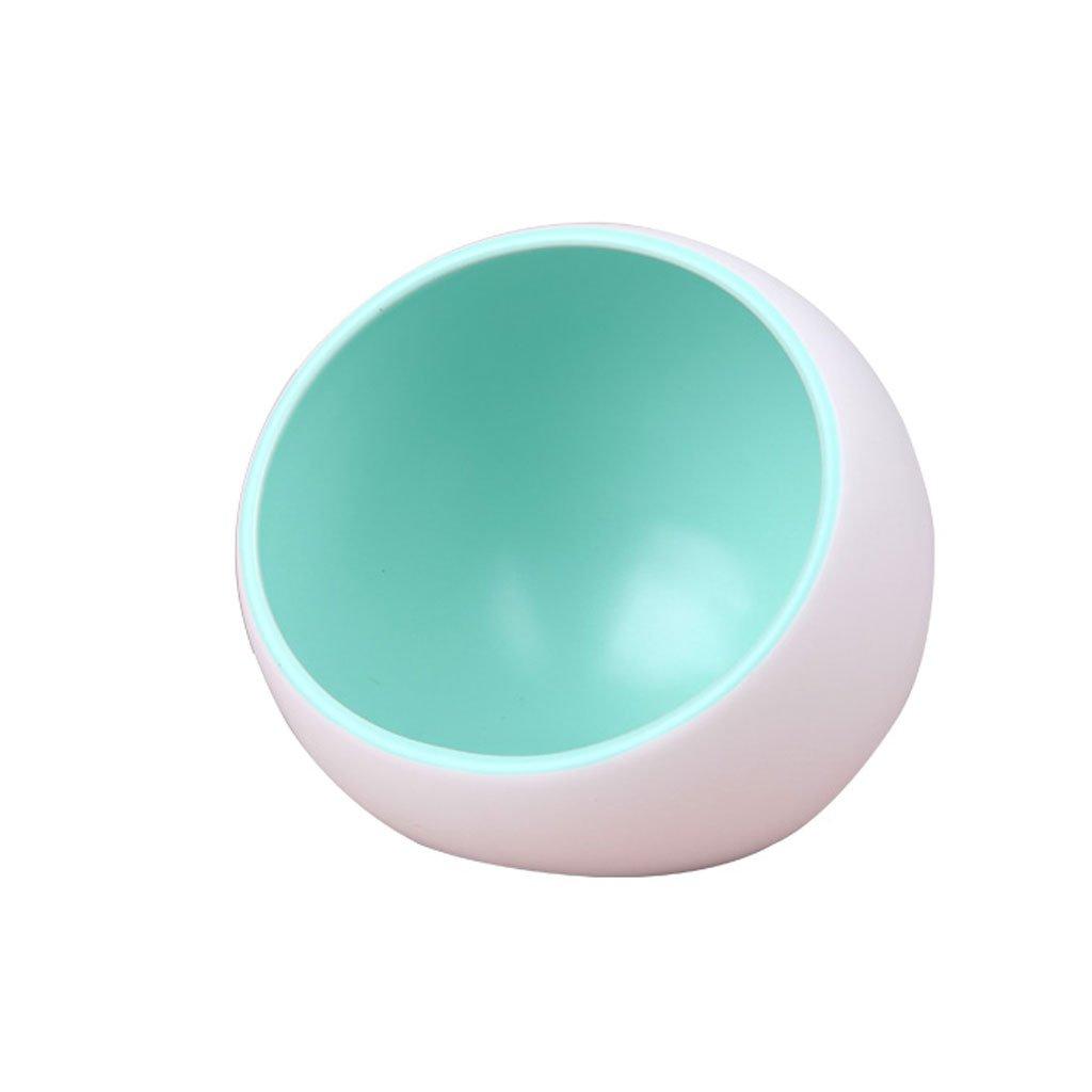 bluee DDSS Pet Feeder Pet Bowl Cat Dog Food Bowl Dog Water Bowl Ceramic Bowl Pet Supplies Small Pet  -  (color   bluee)
