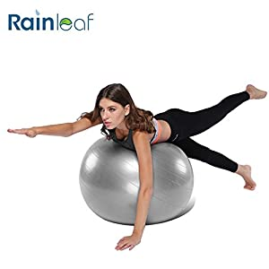 Rainleaf 55cm-65cm Balance ball-Anti Burst Exercise Ball-Non-Slip,Hold 2000lbs Static Strength Yoga Ball from rainleaf
