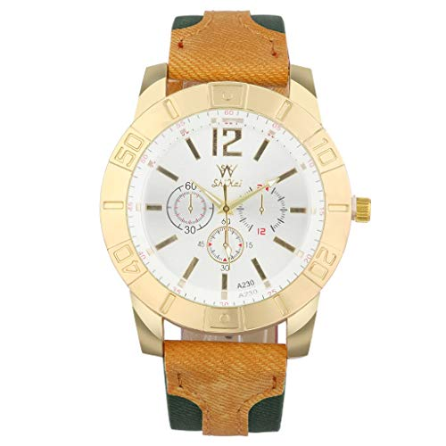 - Business Watch for Men Analog and Digital,LYN Star❀♪ Boy's Fashion Business Quartz Watch with Brown Leather/Mesh Strap