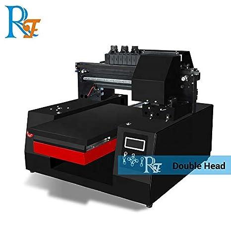 A3 3360 Impresora UV de cuero máquina de impresión uv acrílica con desaparecer Impresora automática de la caja del teléfono 2 Cabezal de impresión exterior DIY Epson Impresora UV: Amazon.es: Industria, empresas