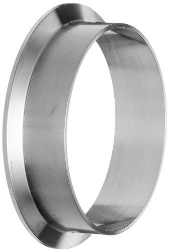 (Dixon L14AM7-R400 Stainless Steel 316L Sanitary Fitting, Long Weld Clamp Ferrule, 4