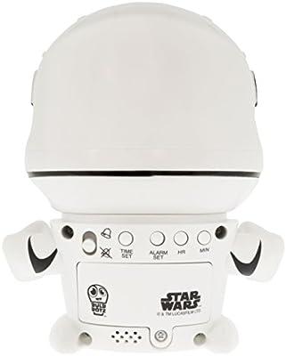 BulbBotz Despertador Infantil con Figurita de La Tropa de Asalto, Blanco, 8.89x12.7x13.97 cm, 2021371: Amazon.es: Hogar