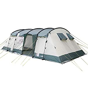 Skandika Hurricane Large Family Tunnel Camping Tent with 2-4 Sleeping Cabins, 5000 mm WC