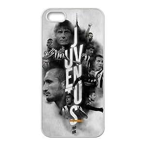 Juventus 005 caso del iPhone 5 5S caja del teléfono celular cubierta funda blanca funda cubierta EOKXLLNBC07334