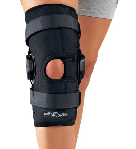 Image of DonJoy Deluxe Hinged Knee Brace, Drytex Sleeve, Open Popliteal, Large