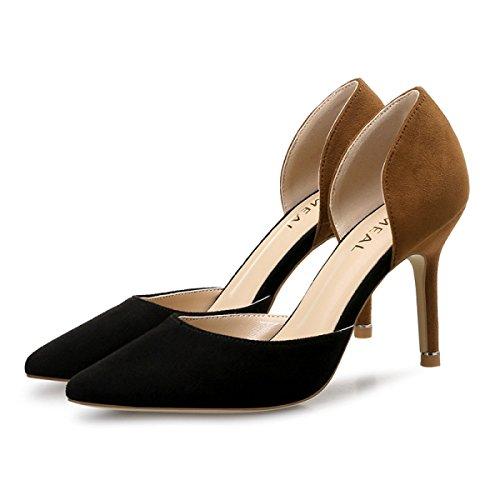 Einzelne Version Frühling Schuhe Beruf Heels Hohl Und Koreanische Arbeitsschuhe Mit Spitze High Sommer Fein qqS7AtxHw