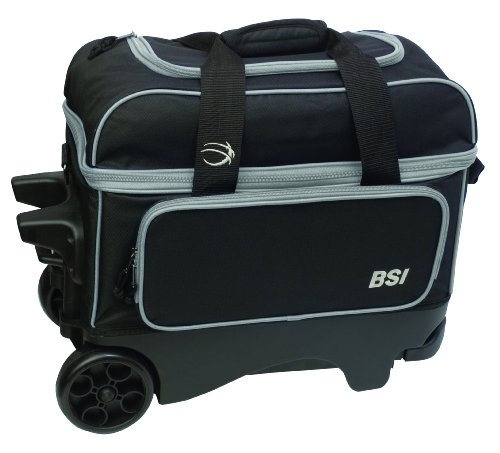 Cheap BSI Large Wheel Double Roller Bag, Black/Grey