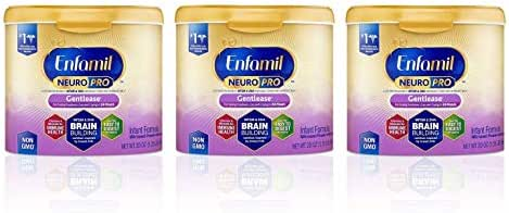 Enfamil NeuroPro Gentlease Infant Formula - Brain Building Nutrition Inspired by Breast Milk - Powder Can, 20 oz (20 Ounce (Pack of 3))