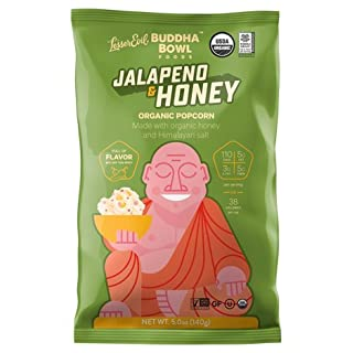 Lesser Evil - Buddha Bowl - Jalapeno & Honey Popcorn Three 5oz Bags- Organic (3)