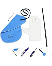 Docooler Flute Cleaning Kit Set with Cleaning Cloth Stick Screwdriver Gloves