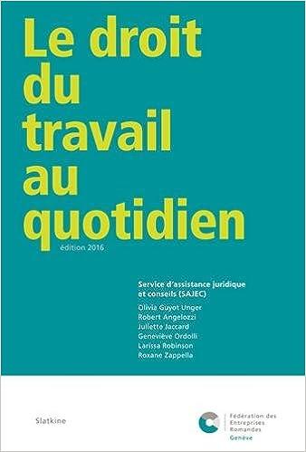 67043c7cc73 Amazon.fr - Le droit du travail au quotidien   Service d assistance  juridique et conseils (SAJEC) - SAJEC - Livres