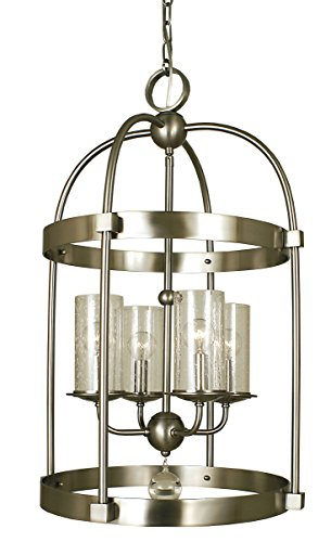 [Framburg 1104 BN 4-Light Compass Dining Chandelier, Brushed Nickel] (Bn Four Light)