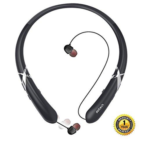 Wireless Stereo Bluetooth Sports Neckband Earphone (Black) - 9
