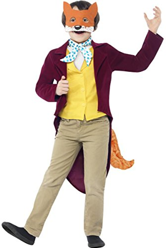 Fantastic Mr Fox Costume With Jacket, Tail, Waistcoat, Mask & Cravat (Mr Fantastic Fox Costume)