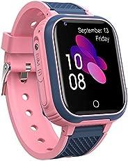 Relógio inteligente para crianças 4G, smartwatches à prova dágua com rastreador GPS, relógio inteligente infan