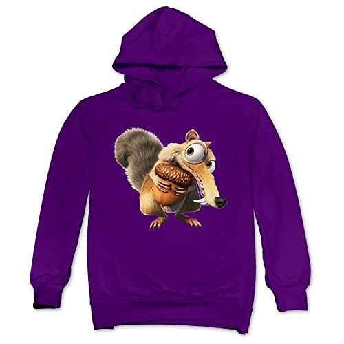 Acorn Barack Obama - ReBorn Men's Comfortable Scrats Acorn Sweatshirt M Purple