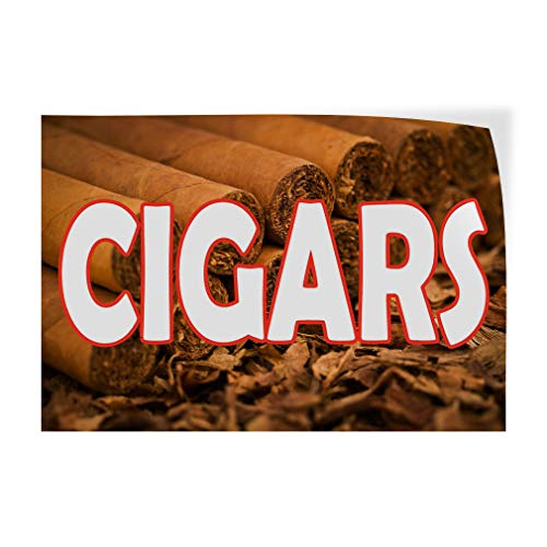 Decal Sticker Multiple Sizes Cigars Brown White Business Cigars Outdoor Store Sign Brown - 66inx44in, Set of -