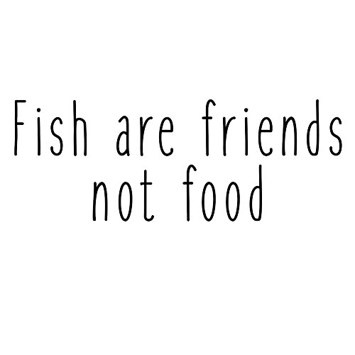 Fish Are Friends Not Food Funny Movie Quote Vinyl Sticker Ca