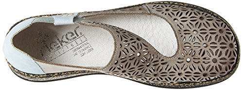 Rieker Women's 46375-10 Closed Toe Ballet Flats, Grey Blue (10 10)