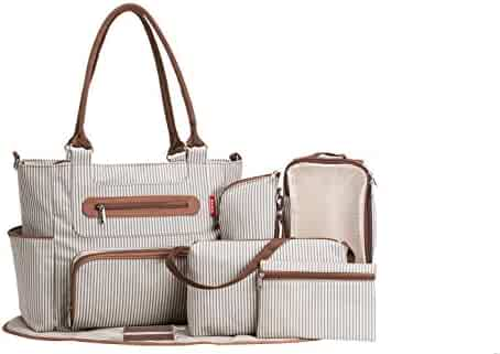 SoHo Collection, Grand Central Station 7 pieces Diaper Bag set