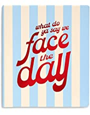 ban.do Undated Weekly To Do Planner, Blue Striped Wellness Journal with To Do Lists and Daily Prompts, Face the Day, Face the Day